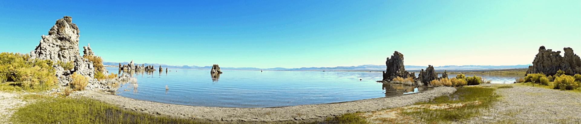panaromafoto Mono Lake zoutpilaren