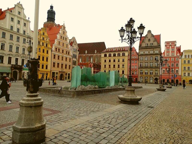 Rynek plein met fontein Wroclaw