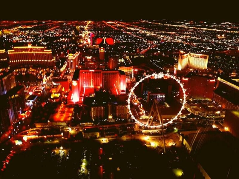 Uitzicht Las Vegas vanuit helicopter