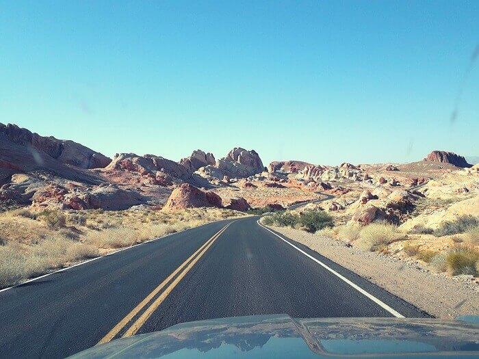 Weg in Valley of Fire