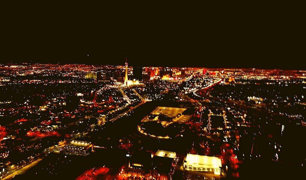 Uitzicht vanaf helicopter