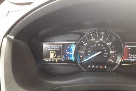 geen benzine meer roadtrip