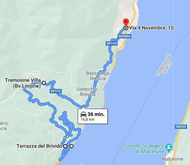 Route Strada Della Forra Gardameer